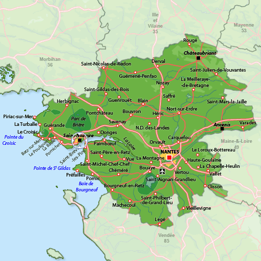Saint Nazaire regions plan